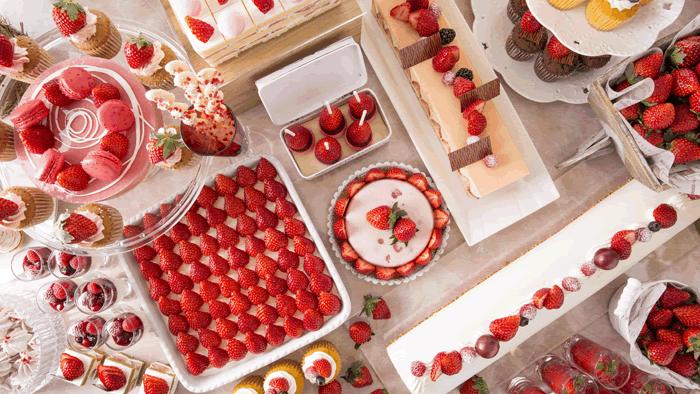 苺好きにはたまらないストロベリーデザートブッフェ「ヒルトン東京お台場」