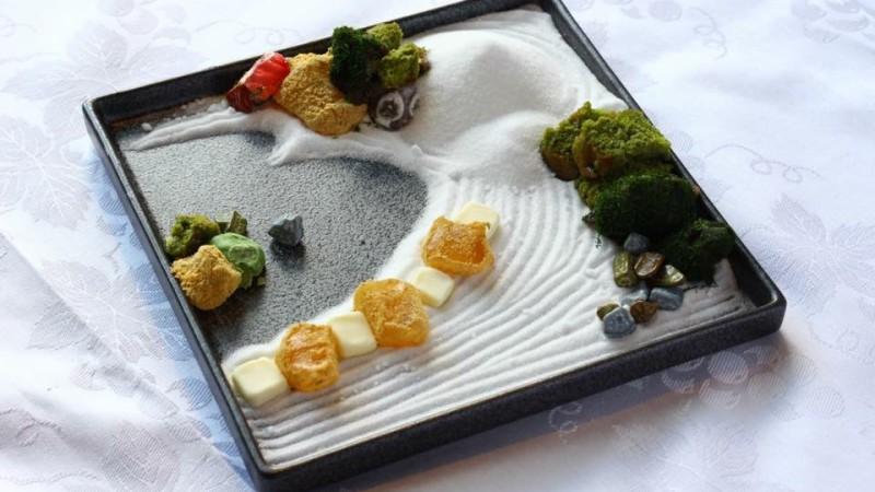 大阪、福島の豆蔵カフェで箱庭スイーツ