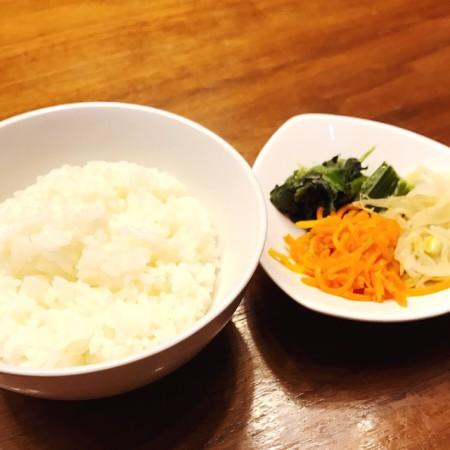西武池袋店韓国食彩にっこりマッコリランチAセットごはんとナムル