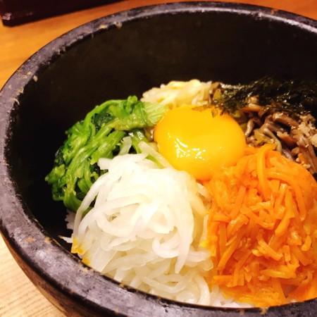 西武池袋店韓国食彩にっこりマッコリランチBセット石焼ビビンバ