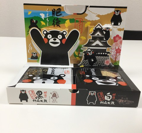 【熊本】オススメお土産特集!第3弾「肥後の黒・白胡麻太鼓」発売以来大人気商品!