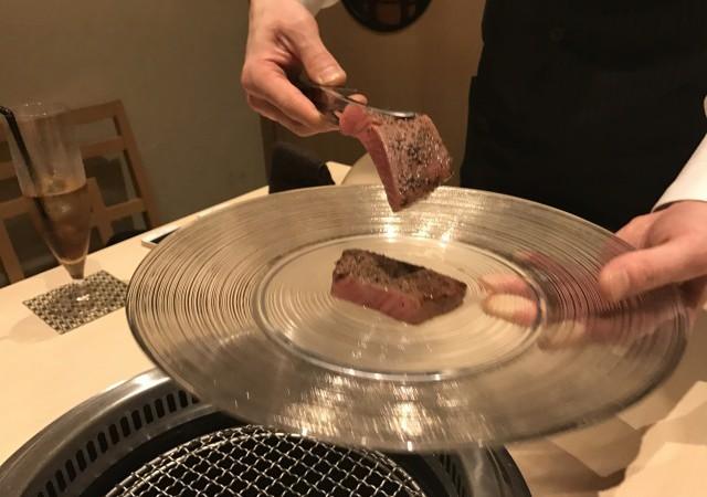 西麻布「けんしろう」で赤身焼肉膳コースとシャトーブリアン