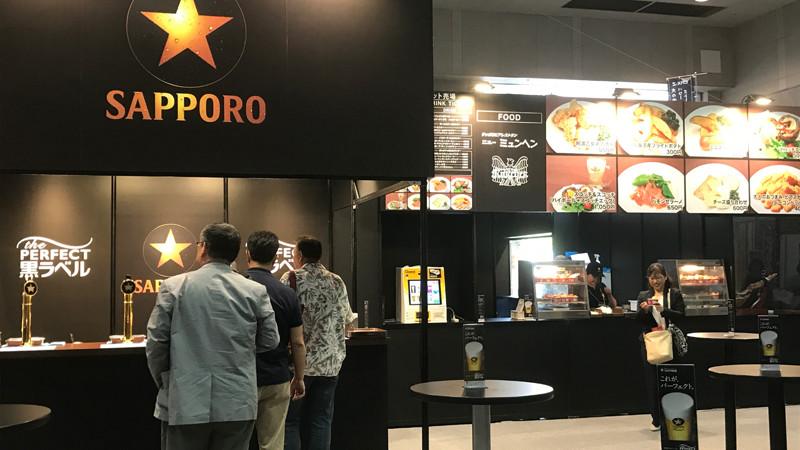 食博2017 サッポロビール「パーフェクト黒ラベル」には「阿波乙女鶏の唐揚」