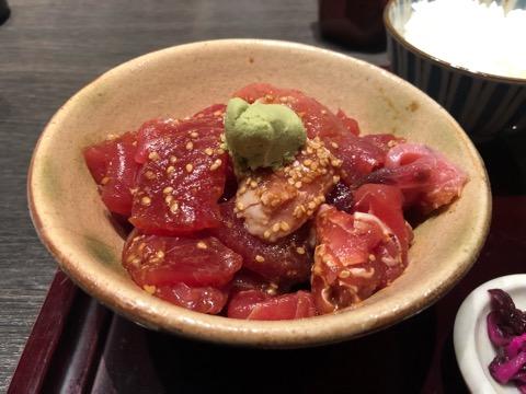 早瀬の鮪ヅケ丼はランチ限定30食、京橋駅近ランチ