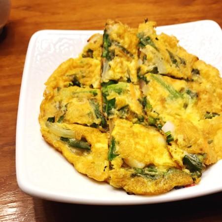 西武池袋店韓国食彩にっこりマッコリランチAセット海鮮チヂミ